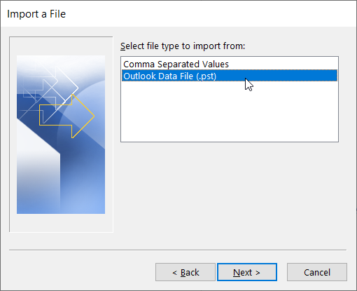 Outlook data fil